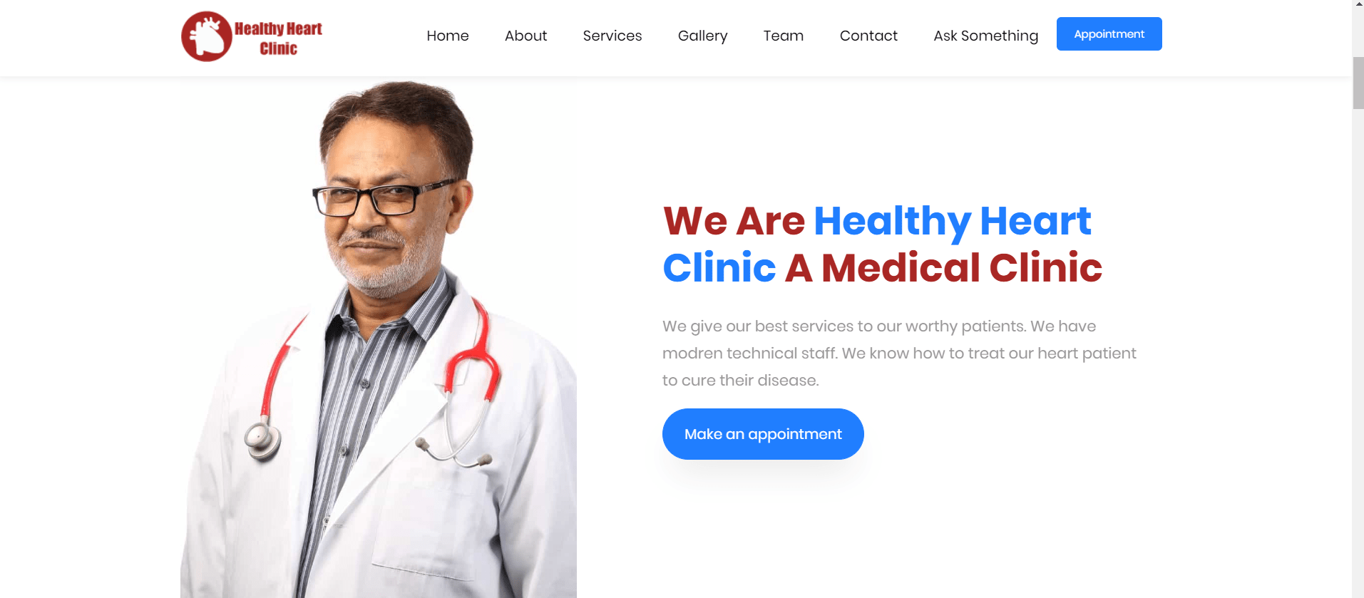 Clinic Appointment Website Image
